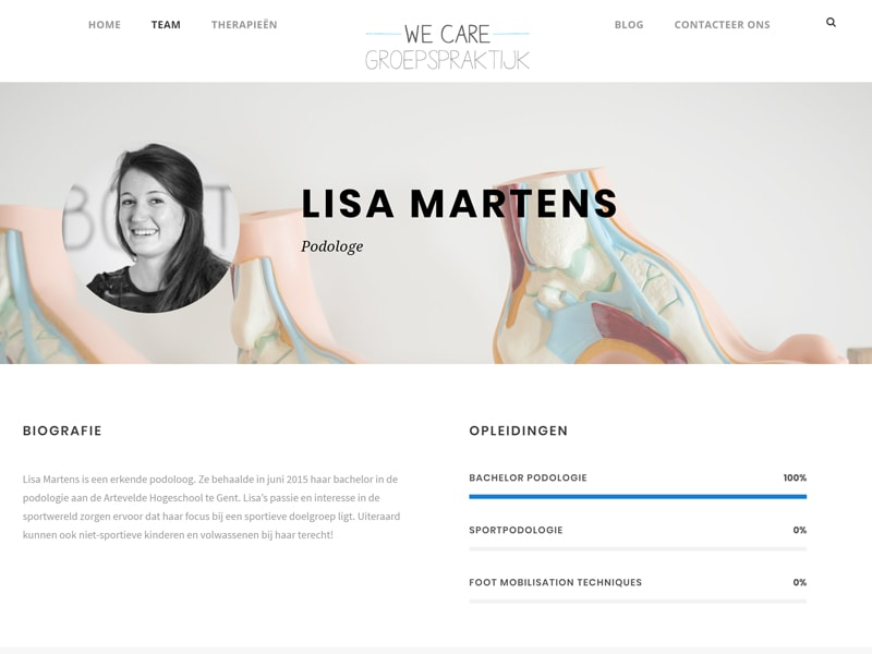 WE Care groepspraktijk website