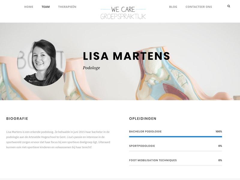 WE Care groepspraktijk website