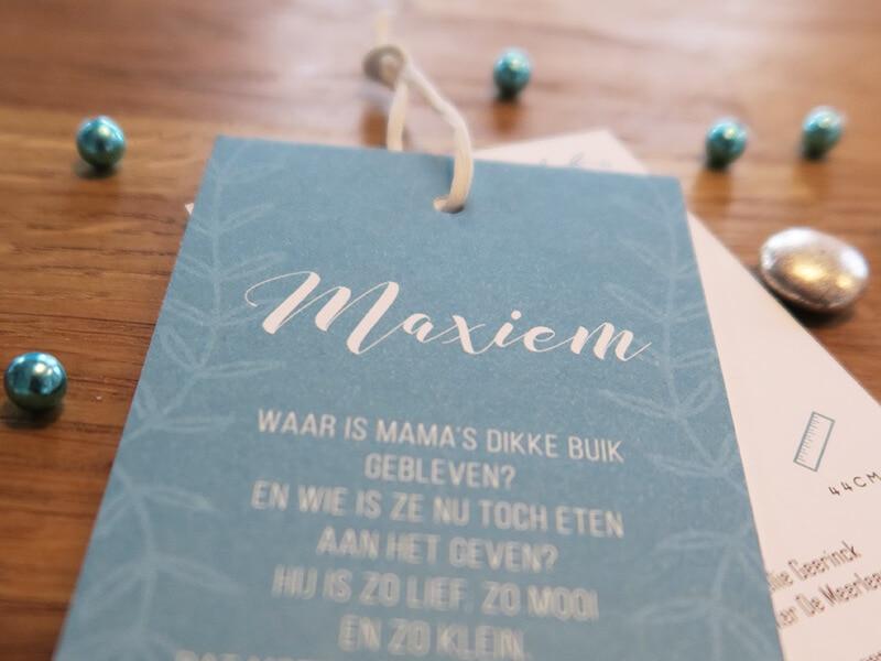 Close-up geboortekaartje Maxiem