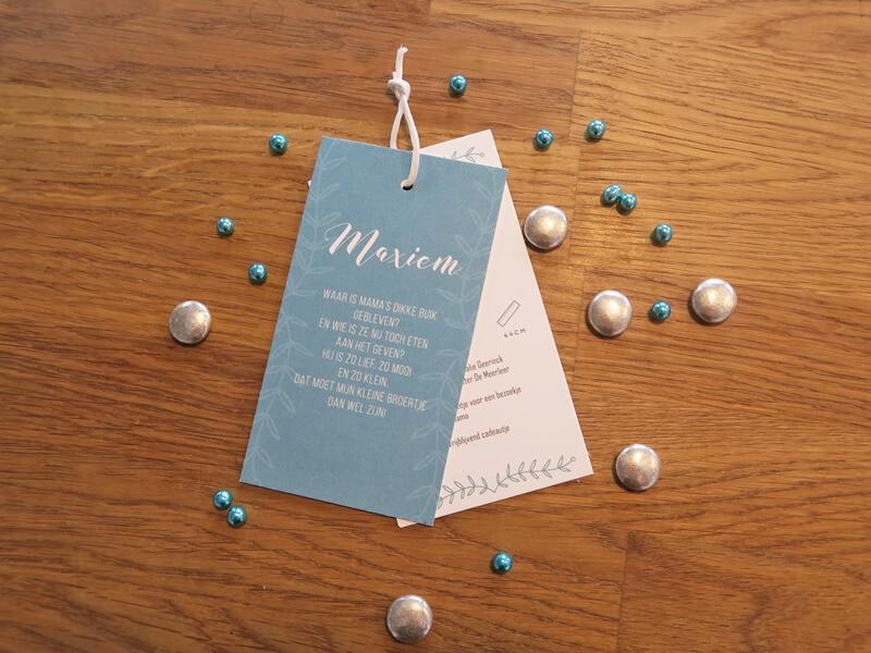 Maxiem geboortekaartje